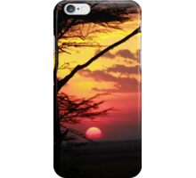 Kenyan Sunset with trees in the foreground iPhone Case/Skin