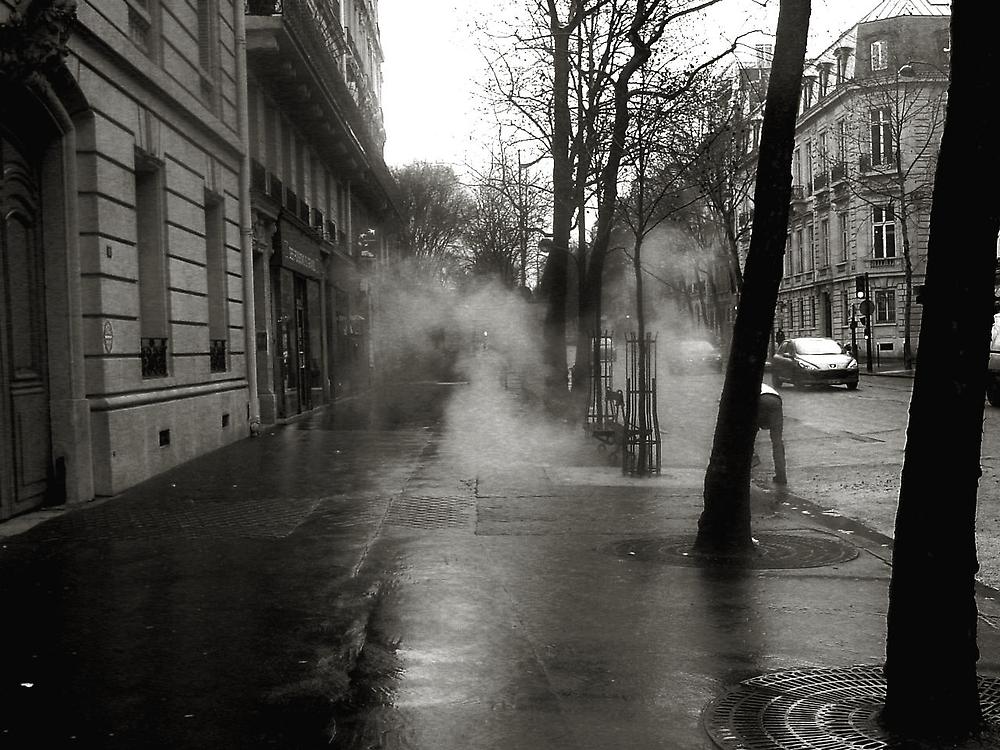 Hot asphalt in the rain  by mkl .