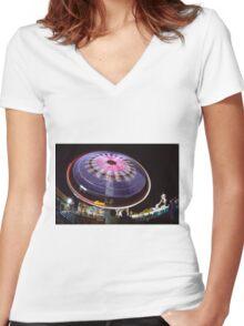 manège - carousel 1 (c)(t) by Olao-Olavia par Okaio Création  Women's Fitted V-Neck T-Shirt