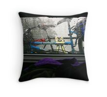 In front of the rain Throw Pillow