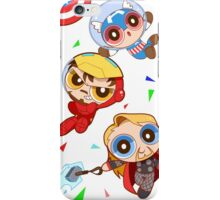 cap x tony x thor white version iPhone Case/Skin