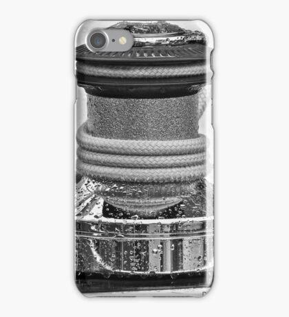 Deck Winch (Black &White) iPhone Case/Skin