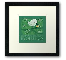 Try Evolution! Framed Print