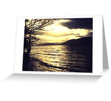 Gold and black - Loch Ness Greeting Card