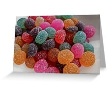 Colored Candy Greeting Card