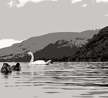 Quack and Hiss on Ullswater by Richard Ion