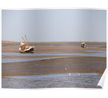 Two Fishing Boats at Brancaster North Norfolk Poster
