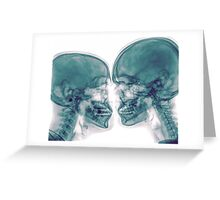 Kissing Couple. Two people kissing under x-ray Greeting Card