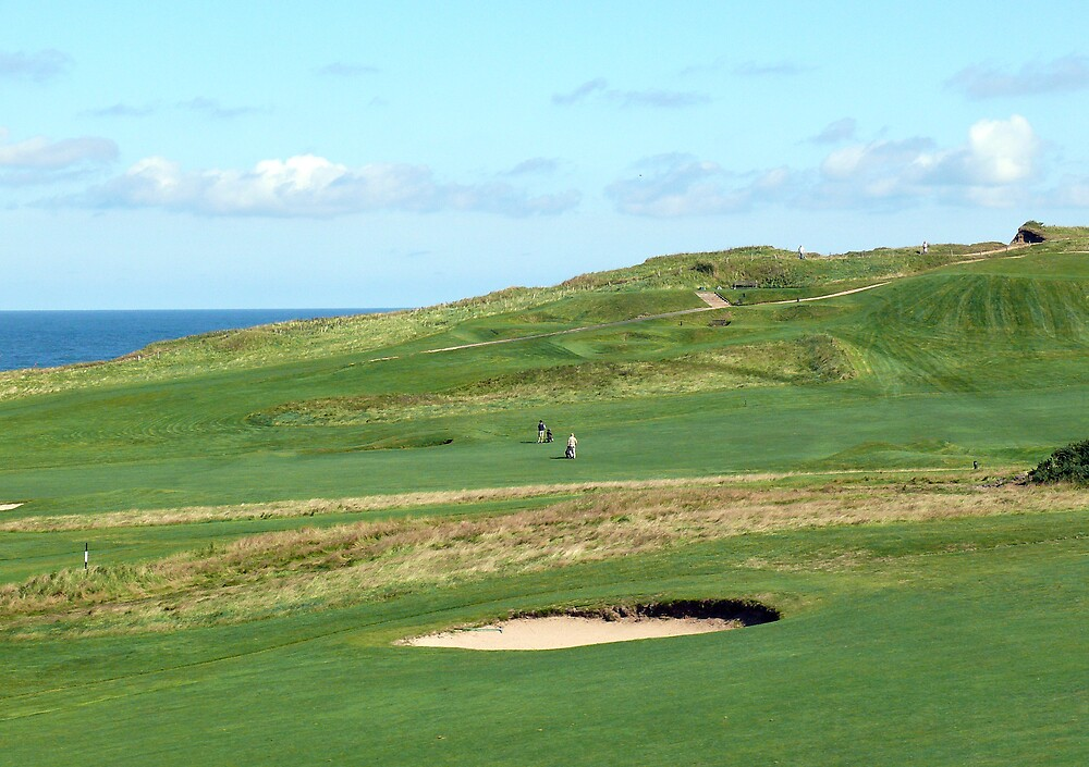 Golf Course on the North Norfolk coast at Sheringham by johnny2sheds