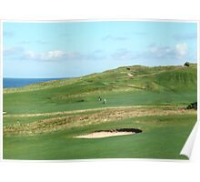 Golf Course on the North Norfolk coast at Sheringham Poster