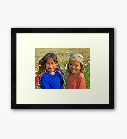Happy Girls  Framed Print