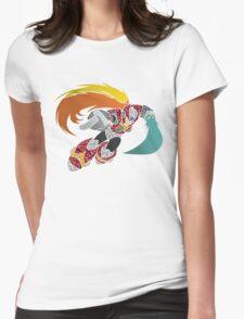 Geometric Zero Illustration Womens Fitted T-Shirt