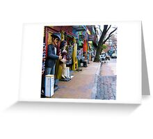 Calles de La Boca Greeting Card