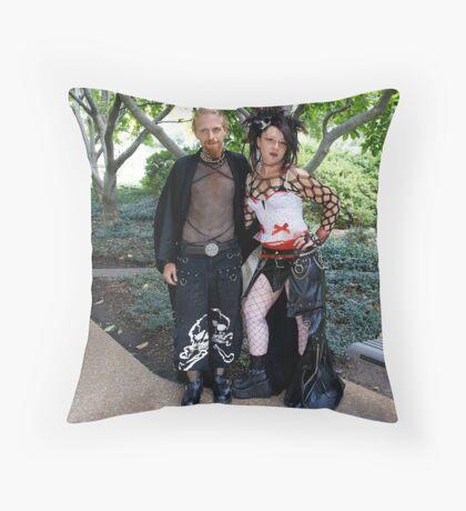 Gothic Life Couple Throw Pillow