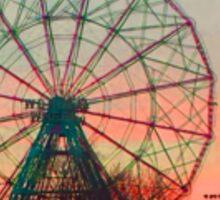 Ferris Wheels on Fire Sticker