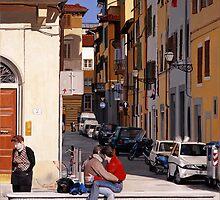 Lovers in Santa Croce by Matthew  Bates