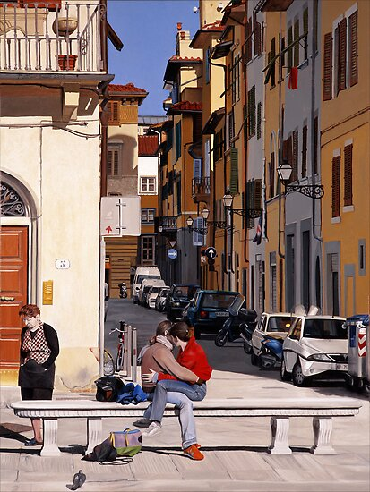Lovers in Santa Croce by Matthew  Bates