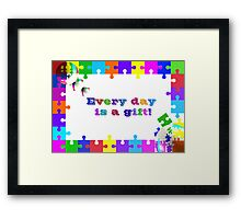 Life Is A Puzzle Framed Print