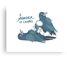 A Murder of Crows Canvas Print