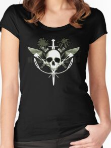 war skull Women's Fitted Scoop T-Shirt