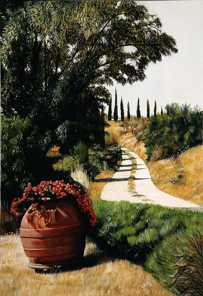 Tuscan Summer Road by Matthew  Bates