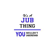It's a JUB thing, you wouldn't understand !! by thenamer