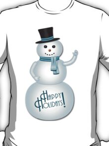 Happy Holidays Snowman T-Shirt