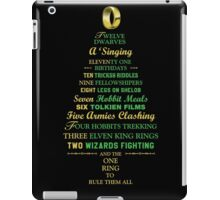 Caroling in Middle Earth iPad Case/Skin