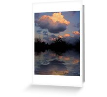 Sunset clouds..... Greeting Card