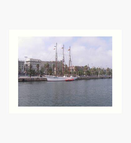 barca harbour Art Print
