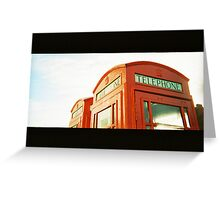 Telephones Greeting Card