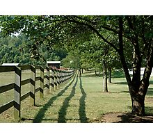Fence and view Photographic Print