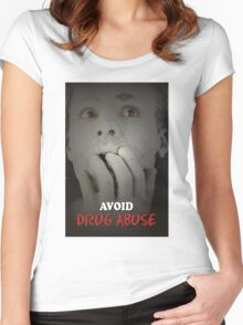 Avoide Drug Abuse Women's Fitted Scoop T-Shirt