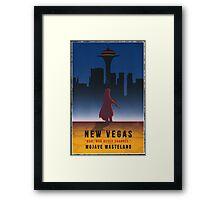 Fallout New Vegas Vintage Style Poster Framed Print