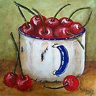 Cherries in cup by Sonja Peacock