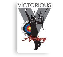 Victory Girl Grey Canvas Print