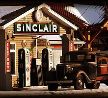 Rural Sinclair Station by Ryan Houston