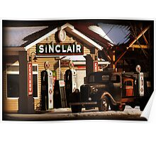 Rural Sinclair Station Poster