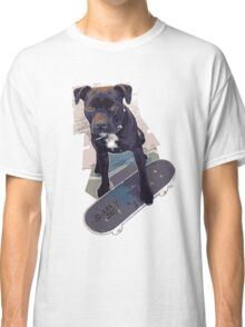 SK8 Staffy Dog Classic T-Shirt