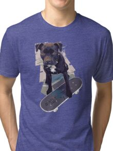SK8 Staffy Dog Tri-blend T-Shirt