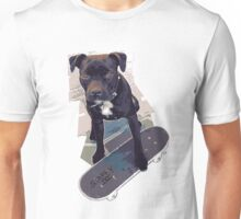 SK8 Staffy Dog Unisex T-Shirt