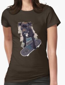 SK8 Staffy Dog Womens Fitted T-Shirt