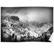 American Fork Canyon - Low-flying Clouds Poster