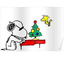 Merry Snoopy Poster