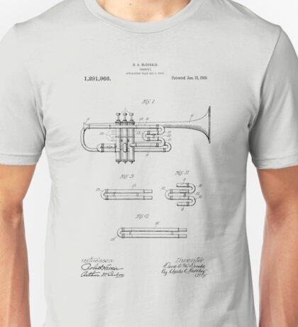 Trumpet patent from 1919 Unisex T-Shirt