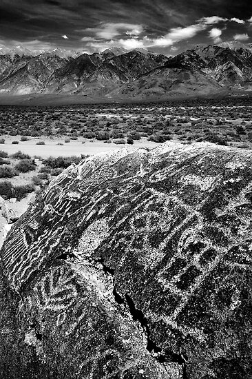 Paiute Petroglyphs and the White Mountains by Nolan Nitschke