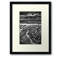 Paiute Petroglyphs and the White Mountains Framed Print