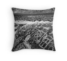 Paiute Petroglyphs and the White Mountains Throw Pillow