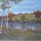 Our Pond In September by Cynthia Kondrick