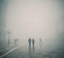 Fog in San Marco, Venice, Italy (#2) by Andy Parker